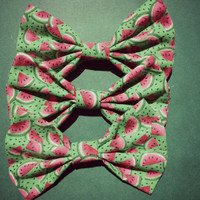 Watermelon Hair Bow/Bow Tie by DiemEtNoctem on Etsy