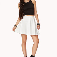 Textured Paisley Skater Skirt