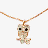 Owl Charm Necklace | FOREVER 21 - 1048893161