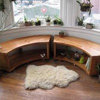 Curved Bay Window Bench by jeremiahcollection on Etsy