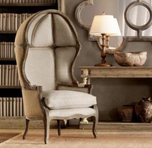 Versailles Domed Burlap-Backed Chair | Upholstery | Restoration Hardware