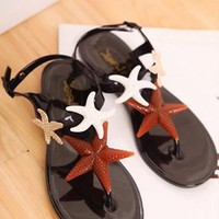 Triple Starfish Flat Sandals for Women GSF230