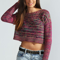Jordan Space Dye Pointelle Crop Jumper