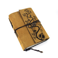 Journal Leather Handmade Suede Overgrown by Kreativlink on Etsy