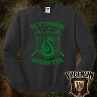 Slytherin Crewneck Sweatshirt in Green or Black Print by VoltNein
