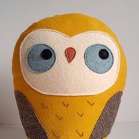 handmade giant plush owl Herman by sleepyking on Etsy