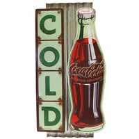 Cold Coca-Cola Embossed Die Cut on Fluted Tin Sign | Shop Hobby Lobby