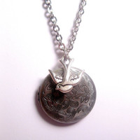 Celestial Bird Locket Necklace