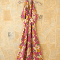 Vintage 1980s Floral Printed Halter Dress