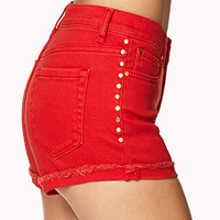 Studded High-Waisted Shorts | FOREVER 21 - 2073403734