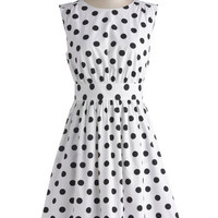 Too Much Fun Dress in Black Dots