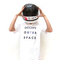 Large OCCUPY OUTER SPACE Tee Shirt. Unisex