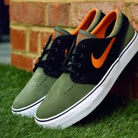 Nike SB Zoom Stefan Janoski Medium Olive/Urban Orange-Black