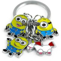 Despicable Me toys Keychain Set - Dave, Jorge, Stewart, Agnes the Unicorn:Amazon:Office Products
