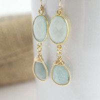 Janice Stevenson Jewelry — Wire Wrapped Aquamarine Earrings