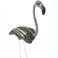 Zombie 45cm Flamingo Halloween Decoration Lawn Ornament Prop