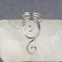 Ear Cuff Silver Swirly Cuff by ShutUpAndCuffMe on Etsy