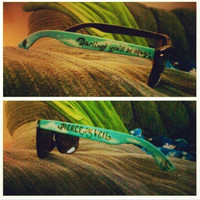 Pierce the Veil Custom Painted Sunglasses by BombAssKicks on Etsy