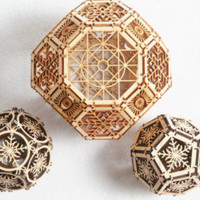 3D Laser Cut Geometric Design - Architectural Ornament - Archimedean Solids - Platonic