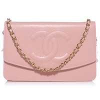 CHANEL Caviar Wallet on Chain WOC Pink