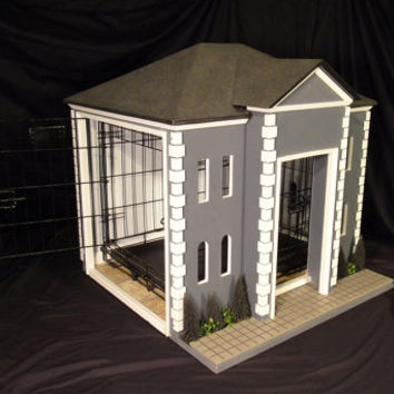 Indoor dog house or unique crate cover from simbascastles on - Unique indoor dog houses ...