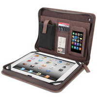 The Kangaroo Leather iPad Portfolio - Hammacher Schlemmer