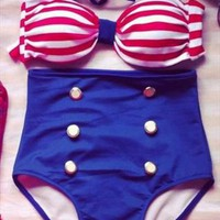 Cute high waist bikini from bebpillo