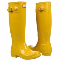 Women's Hunter Boot  Hunter Original Gloss Vintage Yellow Shoes.com