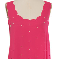 Hot Pink Peekaboo Top
