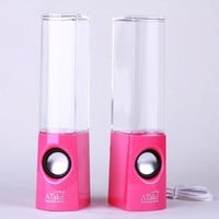 US seller NEW in HOT PINK Atake Music Fountain Mini Amplifier Dancing Water Speakers I-station7 Apple Speakers:Amazon:Computers & Accessories