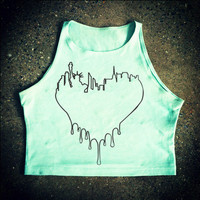 Rave Shirts - NYC Heart Tops - Womens Crop Tops - Bad Kids Clothing | Bad Kids Clothing