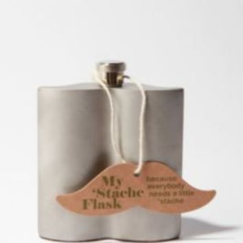Mustache Shaped Flask