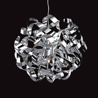 Ribbon Chrome Pendant Light