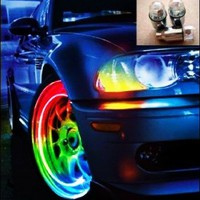 Amazing Color Changing LED Car and Bicycle Wheel Lights (Pair):Amazon:Everything Else