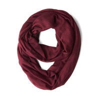 Come Full Circle Scarf in Burgundy | Mod Retro Vintage Scarves | ModCloth.com