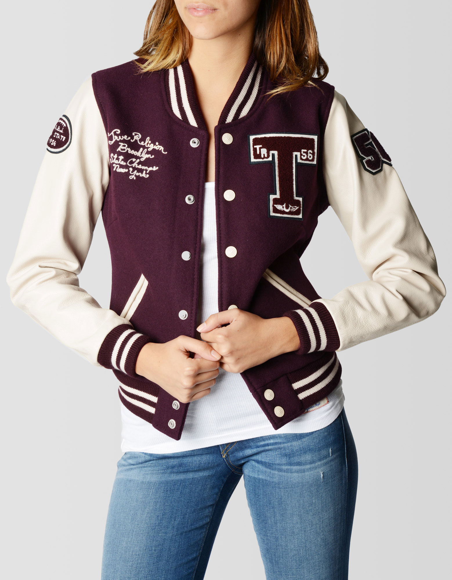 True religion varsity jacket womens