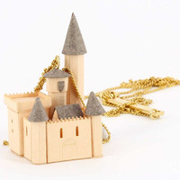 "Necklace ""castle"" jewel paper / vitrified"