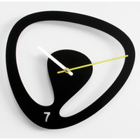 Seven Wall Clock - Black