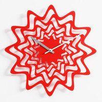 Flux Wall Clock - Red