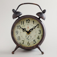 Black Vintage-Style Magnet Clock - World Market