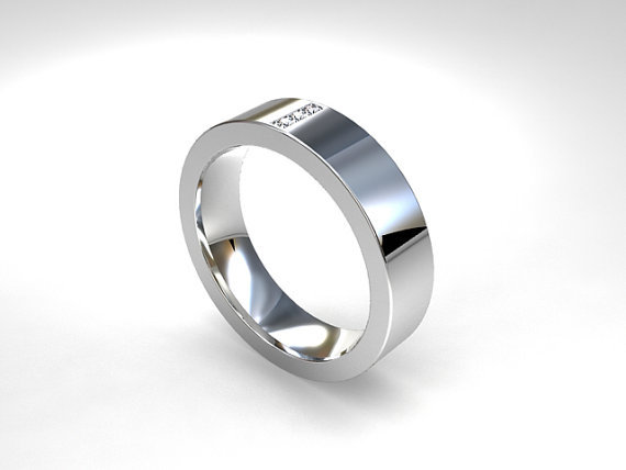 Palladium Wedding Band Diamond Ring From TorkkeliJewellery