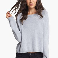 Rubbish® Zip Back Crop Pullover (Juniors) | Nordstrom