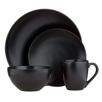 Granite 16-pc. Dinnerware Set - Black