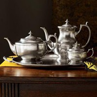 Valpeltro-Pewter Tea Set-Horchow