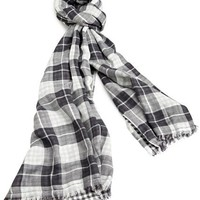 French Connection Men's Contrast Check Scarf
