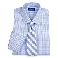 Paul Fredrick Trim Fit Club Collar Dress Shirt