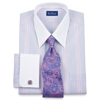 Paul Fredrick Luxury 200s White Collar \ French Cuffs Dress Shirt