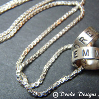 Personalized Two Names Necklace Sterling Silver 2  name necklace