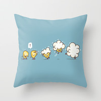 Microwavolution  Throw Pillow by Terry Fan