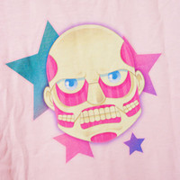 Pastel no Kyoujin Attack on Titan Colossal Titan Kawaii T Shirt Size S Through 2XL